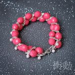 Pink Beads and Pearls Bracelet by shoudoumagic