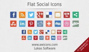 Flat Social Icons by Insofta