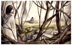 Boromir and Frodo on Amon Hen by peet