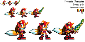 Terraria Character - Sonic Edit Sprites by Assassin--Knight