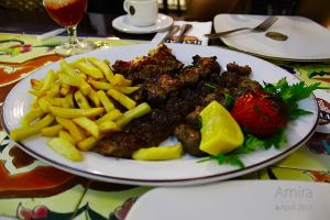 mix kebab plate in Hatam Abu Dhabi by amirajuli