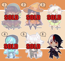 [OPEN-1 left] Halloween Adopts   Name Your Price by Valkymie