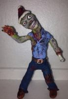 Zombie with a Santa hat by Rene-L