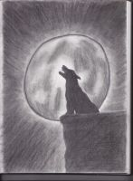 Full moon howling.. by FlyingColors68