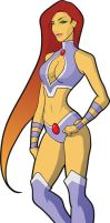 Young Justice Starfire by skyboy16