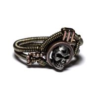 Steampunk Skull Ring size 11 by CatherinetteRings