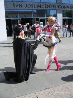 Tuxedo Kamen and Sailor Moon by Stormfalcon