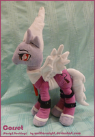 Corset OC Pony Plush by Wolflessnight