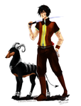 Furan : Nathan and Ruby - Champion de Therm by D-Kitsune