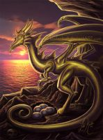 Golden Dragon of Wishes by keelerleah