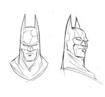 Batman, Bruce Wayne heads by TrevorMc112