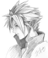 FFVII:AC Cloud sketchy by t-e-a