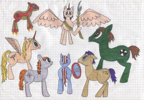 Avengers Ponies by Missanissa