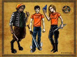 Percy, Annabeth and Grover by Junior-Rodrigues