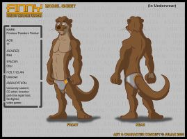 Model Sheet - Finny ~ Anatomy by mitofox