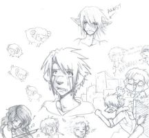 Some Doodles, Here by Spaniel122