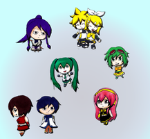 Misc. Vocaloid Chibis. by Calculated-Lie
