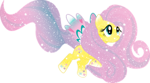 Galaxy Rainbow Power Fluttershy by DigiRadiance