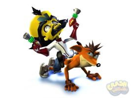 Crash and Cortex 06 by crashzoneart