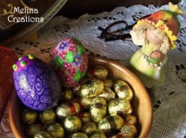 Clay Covered Easter Eggs by MelinaCreations