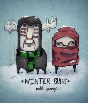 winter buds. by idrawbad