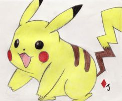 Pikachu Colour by Jack-0f-Diam0ndz