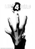 Left 4 Dead cover (black and white) by P0XonTHErun
