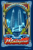 petronas twin towers_t-shirt by widjana