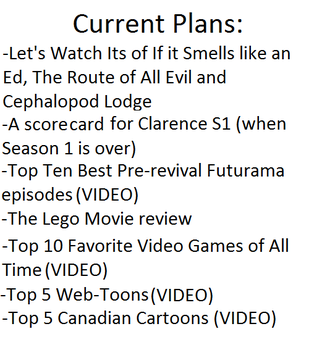 Current Plans as of November 3rd, 2014 by awesomenommer777