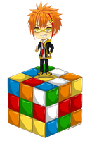 MM - Rubik's Cube Bank by UlfaShirayukiHime