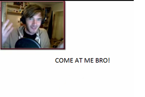 PewDiePie COME AT ME BRO by wazzalord3