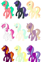 MLP cute adoptables by PastelPen