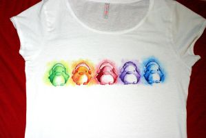 Rainbow Penguin Shirt - FOR SALE by B-Keks