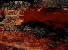 Abstract in Red with Ice by kbhollo