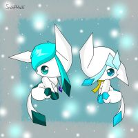 The  epic glaceons by snowflake95