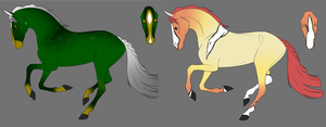 Colorful Horse Adopts- Open by MicheWoof