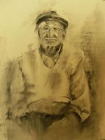 Portrait charcoal by el-lagarto