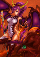 Puzzle and Dragon- Fire Sonia by Gino009