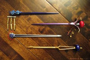 FFX Lulu Hair Sticks/Pins by Frederica-La-Noir