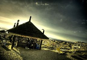 beach hut by martybell