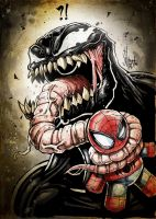 VENOM love Spidey by Vinz-el-Tabanas