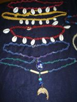Necklaces - Coloured Hemp by SwirlzDesigns