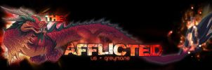 Afflicted Banner - black by Myssham