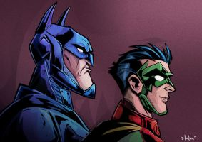 batman and robin by HEROBOY