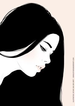 Long Haired Beauty by Lunai