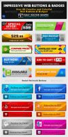 Impressive Web Buttons and Badges by behzadblack