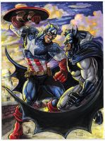 Cap vs. Bats Commission by RayDillon
