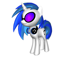 Dj Pony/Vinyl Scratch Icon by brickfromhatena