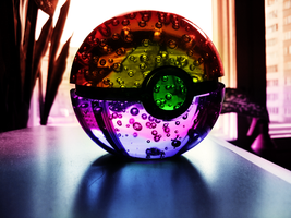 Rainbow Pokeball by Marzarret