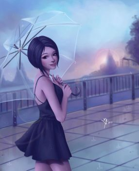 Summer Evening in the Rain by Leo-25